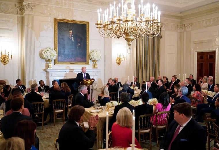 Image: President Donald Trump speaks at an event honoring Evangelical leadership