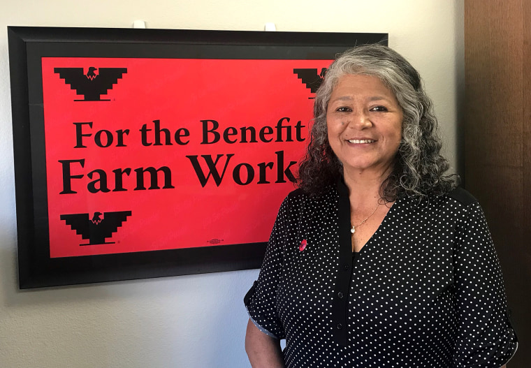 Teresa Romero has been elected president of United Farm Workers union, replacing Arturo Rodriguez when he steps down Dec. 20, 2018.