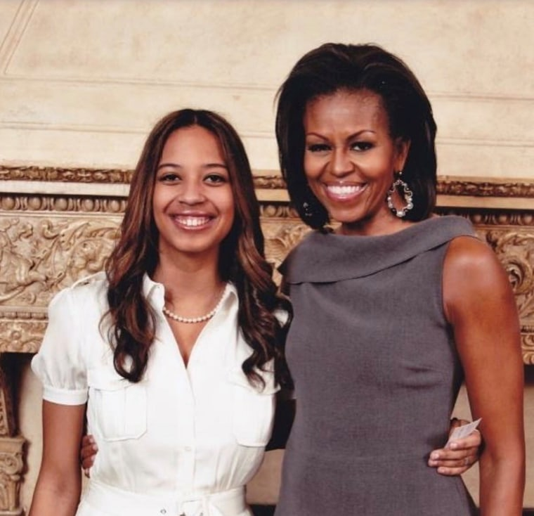 Lyric McHenry with former first lady Michelle Obama.