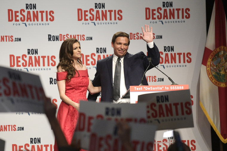 Picture: Republican Governor Ron DeSantis's candidate