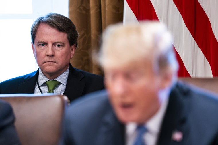 Image: White House counsel Don McGahn before a meeting in the Cabinet Room of the White House