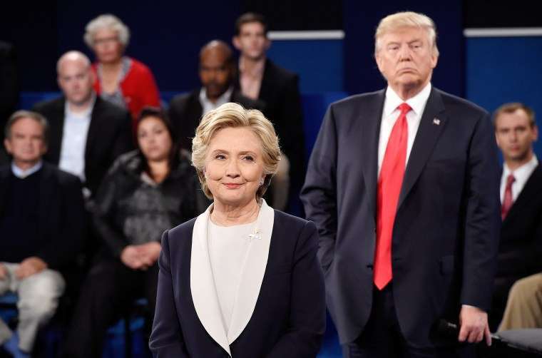 Image: Candidates Hillary Clinton And Donald Trump Hold Second Presidential Debate At Washington University