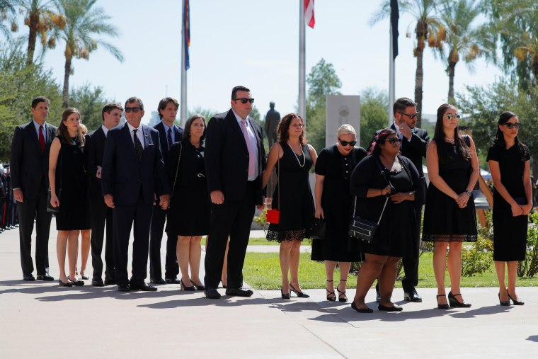 Image: Friends and family of Sen. John McCain