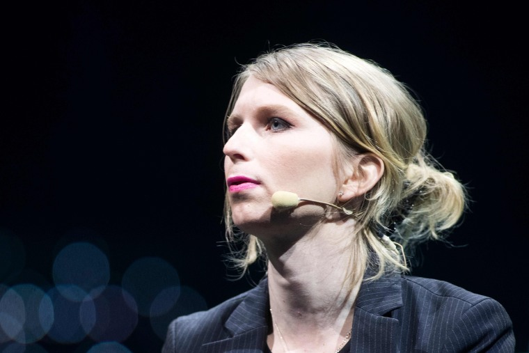 Image: Former U.S. soldier Chelsea Manning speaks during the C2 conference in Montreal, Quebec