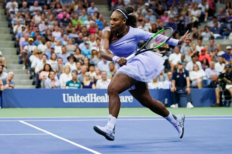Image: Serena Williams of the U.S. runs to hit a return to Carina Witthoeft of Germany during Day 3 of the 2018 US Open Women's Singles