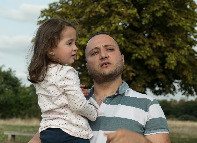 Image: Dr. Hamza Al Khatib with his three-year-old daughter in London