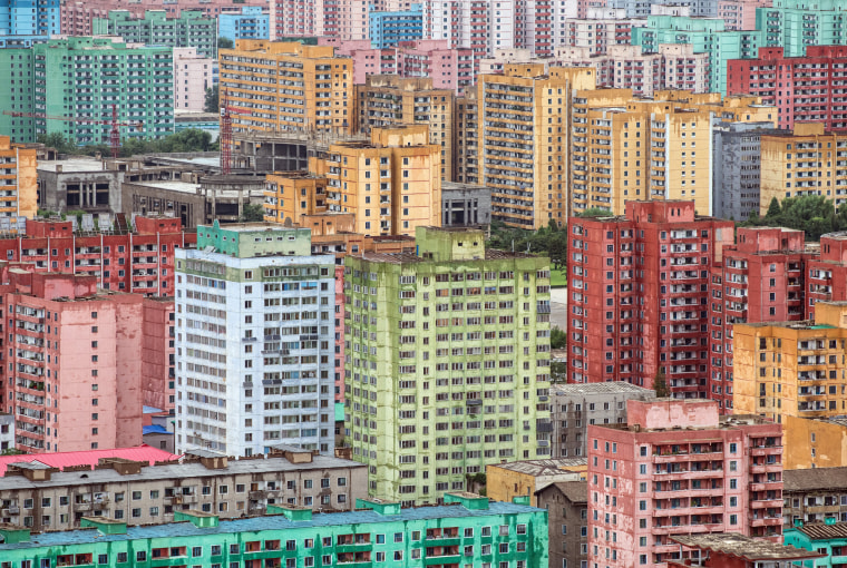 Image: Apartment blocks in Pyongyang