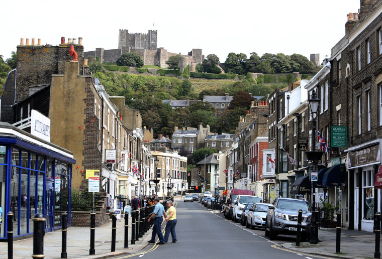 Image: Castle Street in Dover looks up to the centuries-old fortress