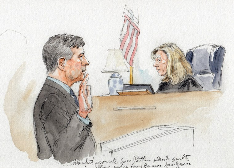 Manafort associate Sam Patten pleads guilty before Judge Amy Berman Jackson to charges of failing to register as foreign agent.