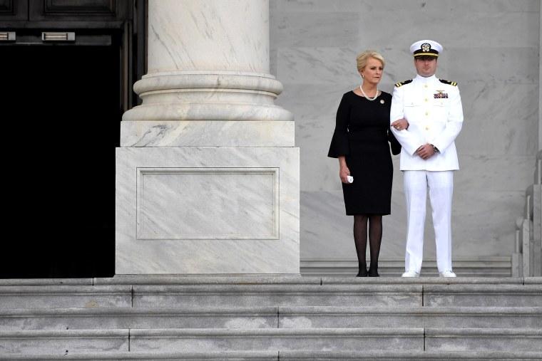 Image: Cindy McCain and her son John Sidney McCain