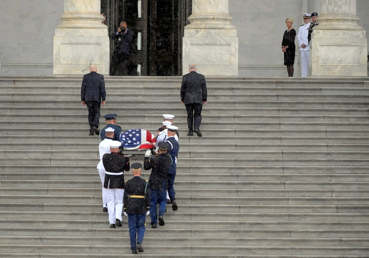 Image: Casket of U.S. Senator John McCain arrives at the Capitol