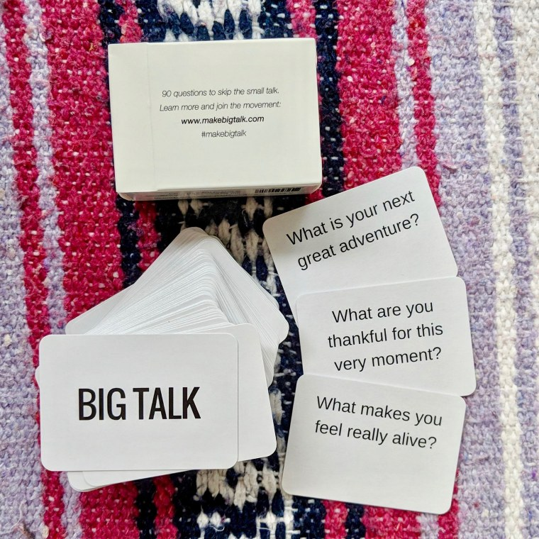 """Cards from the """"Big Talk"""" game."""