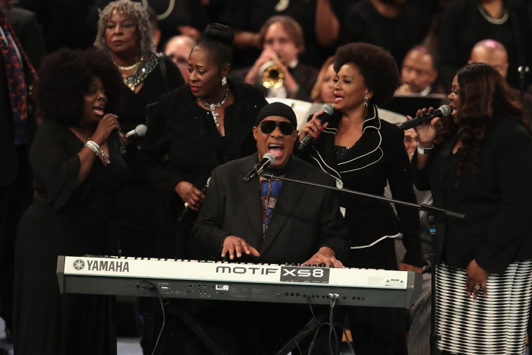 Image: Soul Music Icon Aretha Franklin Honored During Her Funeral By Musicians And Dignitaries