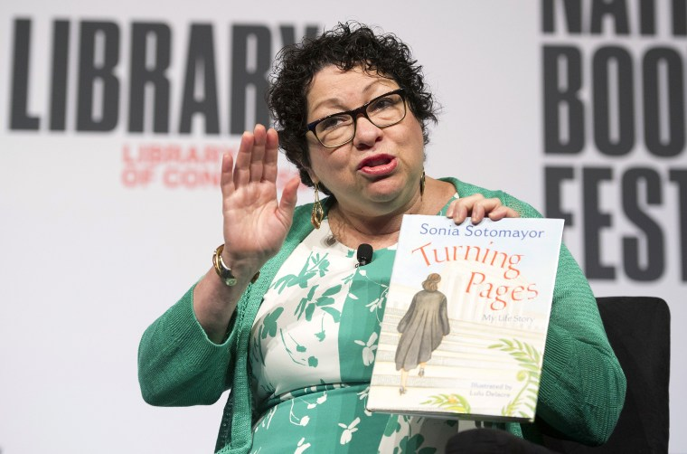 Image: Supreme Court Associate Justice Sonia Sotomayor talks about her children's book