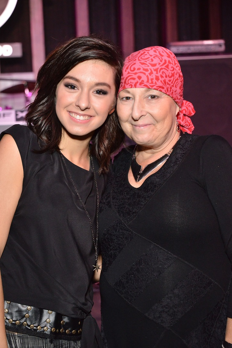 Christina Grimmie and mom