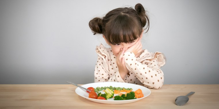 children don't want to eat vegetables