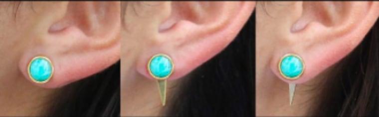 Fire earrings worn three ways