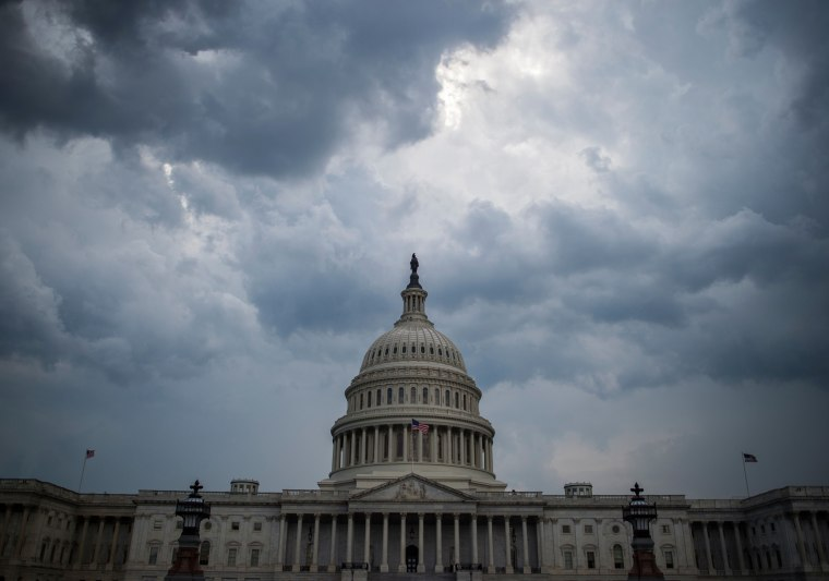 Image: Storm clouds gather over Capitol Hill