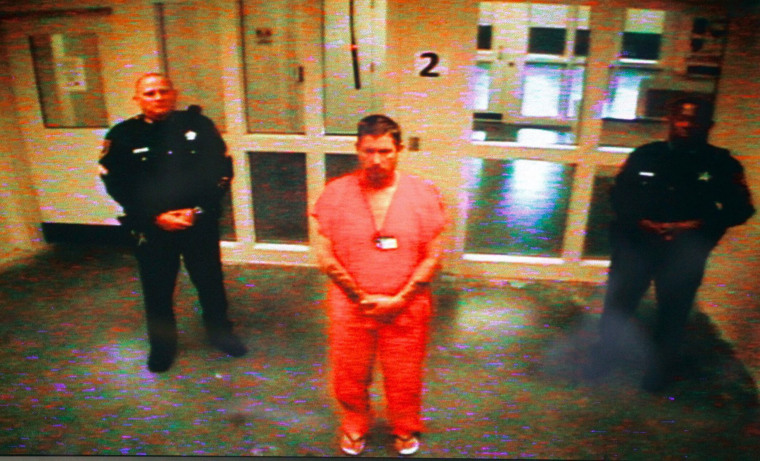 Image: Michael Drejka makes his first appearance at the Pinellas Courthouse in Clearwater