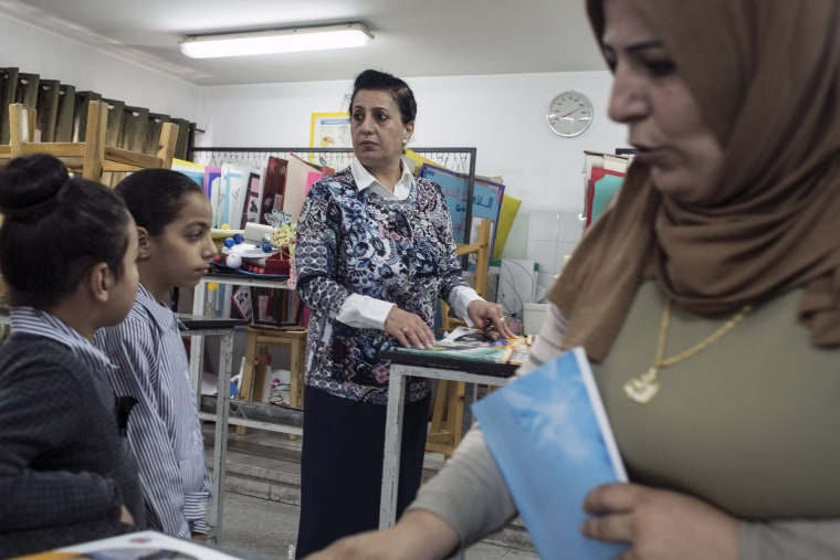 Image: Fatima Al Qaisi, the principal of Dheisheh Basic Girls School