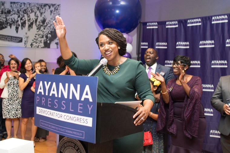 Image: Boston City Councilwomen And House Democratic Candidate Ayanna Pressley Attends Primary Night Gathering In Boston