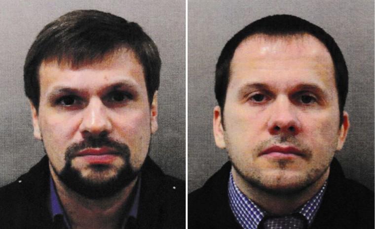 Image: Alexander Petrov, left, and Ruslan Boshirov
