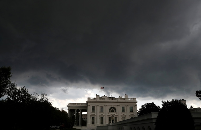 Image: Storm clouds gather over the White House in Washington, D.C.