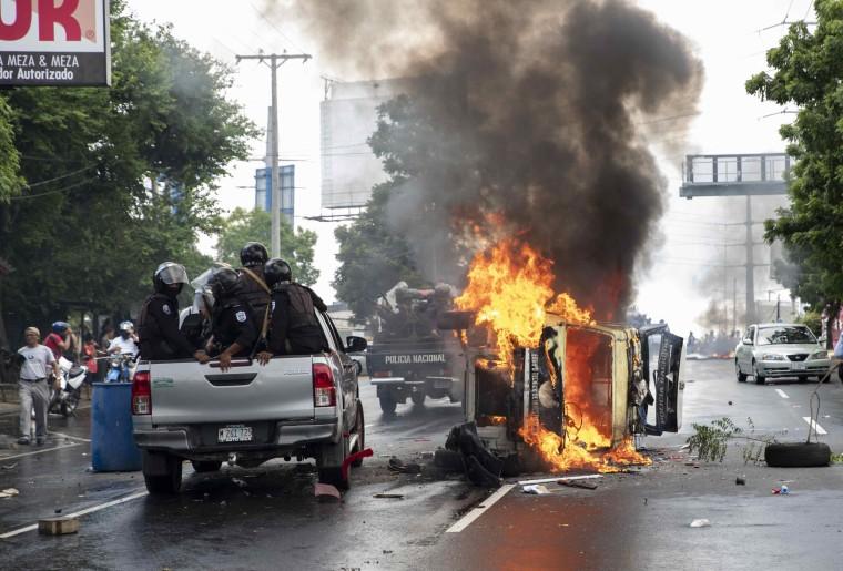 Image: Protest against Nicaragua President Daniel Ortega in Managua