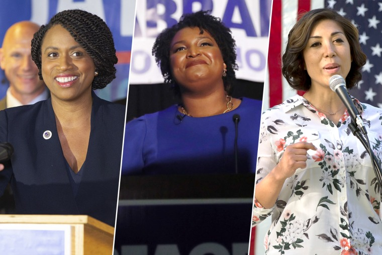 Ayanna Pressley, Stacey Abrams, and Paulette Jordan.