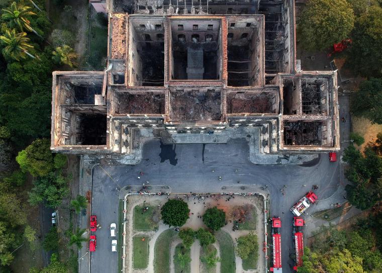 Image: BRAZIL-FIRE-MUSEUM-ARTERMATH