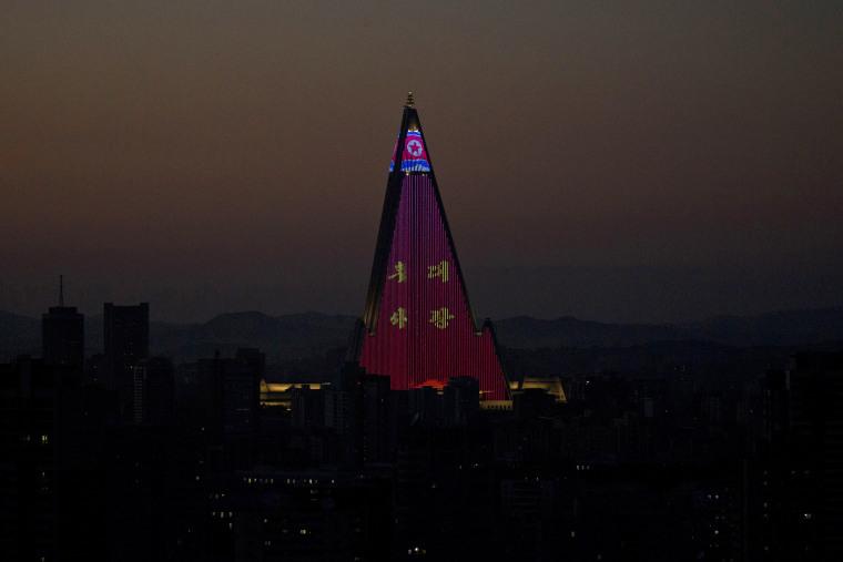 Image: The Ryugyong Hotel in Pyongyang, North Korea