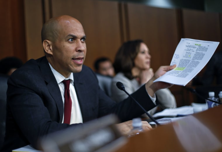 Image: Cory Booker at Brett Kavanaugh's confirmation hearing
