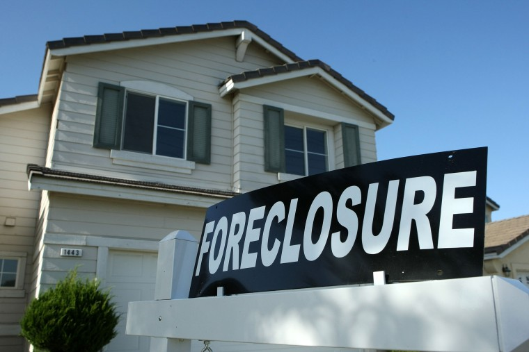 Image: Foreclosure Sign, Stockton, CA Leads Nation In Rate Of Foreclosures