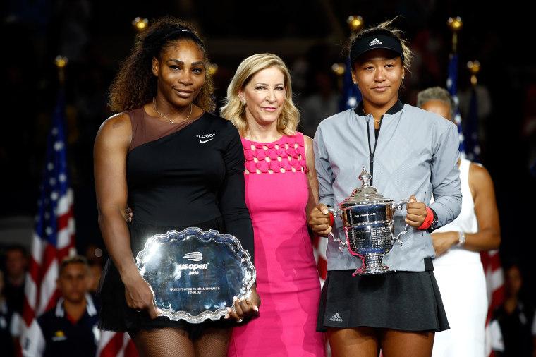Image: Naomi Osaka and Serena William women's singles finals match