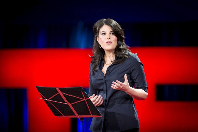 Image: Former White House intern Monica Lewinsky speaks at the TED2015 conference in Vancouver