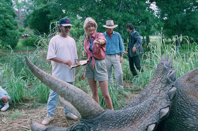 Behind-the-scenes photos for an upcoming Jurassic Park @ 25 post