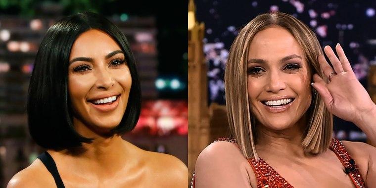 Kim Kardashian and Jennifer Lopez