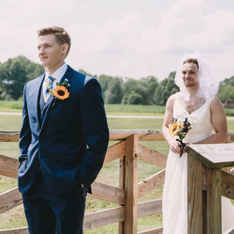 This Groom Surprised His Bride With A Wedding Just Days: Bride Pulls Perfect Prank On Groom During 'first Look