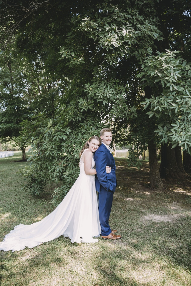 Groom surprised by best man in dress on his wedding day