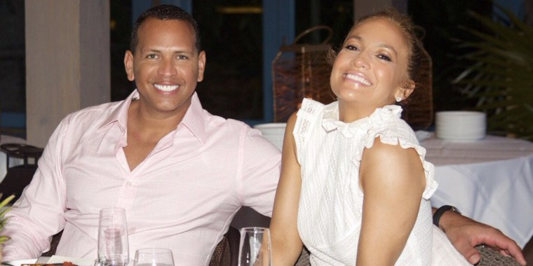 A-Rod & J.Lo at a restaurant