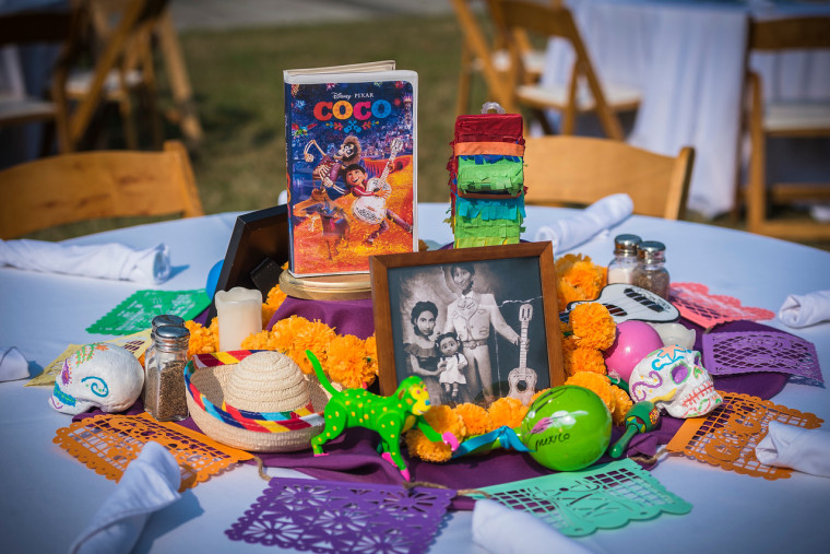 Each table's centerpiece featured decor based on a different Disney movie.