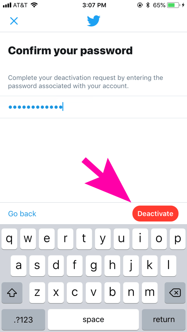 how to delete twitter on ios