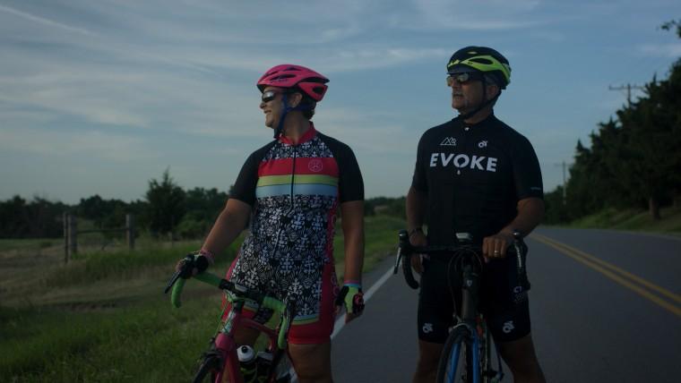 Oklahoma City bombing survivor Amy Downs on bike