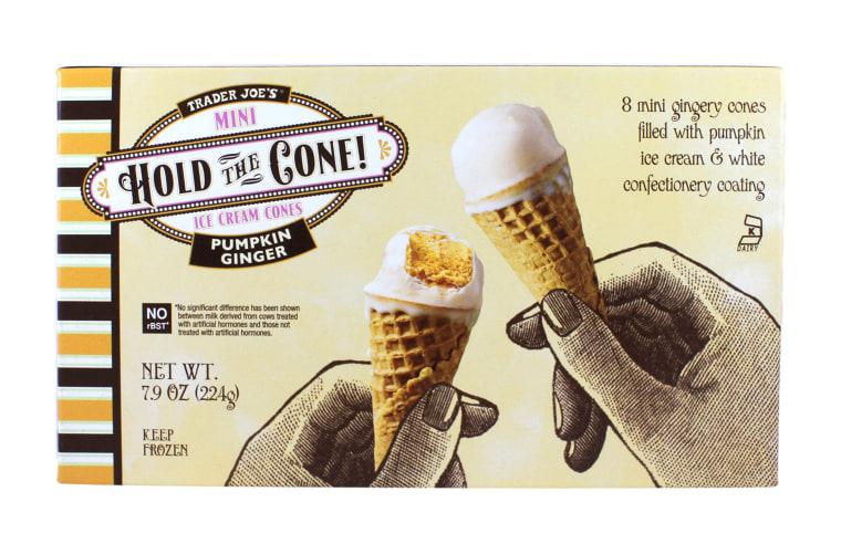 Trader Joe's Pumpkin Ginger Hold the Cone Ice Cream Cones
