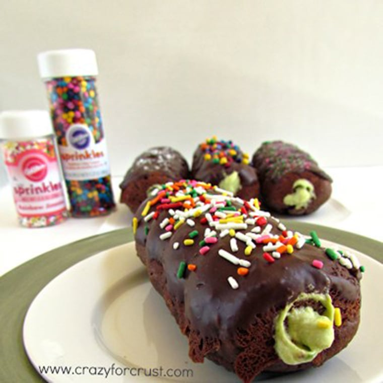 Avocado-filled donuts