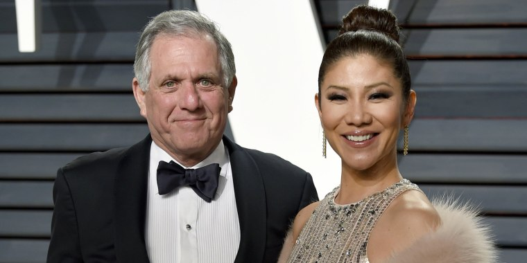 Julie Chen showing her support for husband Les Moonves on Big Brother last night