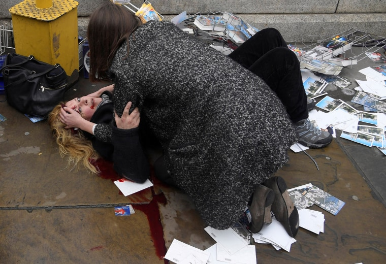 Image: Second-placed series of images of World Press Photo 2018 contest for Spot News Stories - Toby Melville, Reuters - Witnessing the Immediate Aftermath of an Attack in the Heart of London
