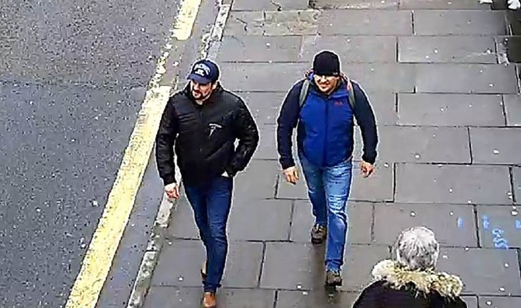 Image: Ruslan Boshirov and Alexander Petrov on Fisherton Road, Salisbury, England on March 4, 2018