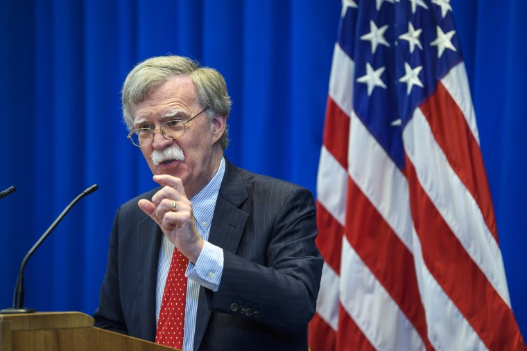Image: U.S. national security adviser John Bolton.