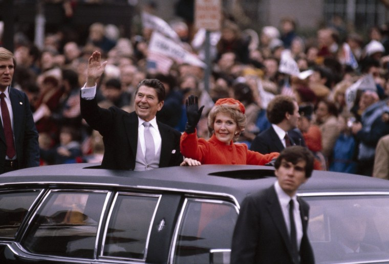 Image: President Ronald Reagan and wife Nancy in 1981